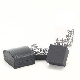 Dárkové krabičky černé a bílé barvy - 4 kusy