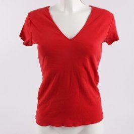 Dámské tričko červené s krátkými rukávy