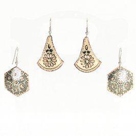 Dámské náušnice s ornamenty - 2 páry