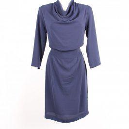 Dámské šaty s vodovým výstřihem H&M modré