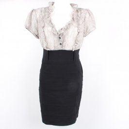 Dámské šaty Clockhouse černo bílé