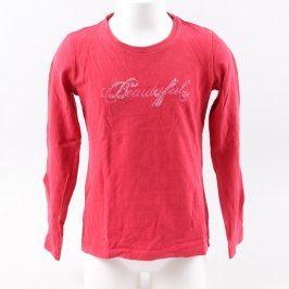 Dívčí tričko Manguun odstín červené