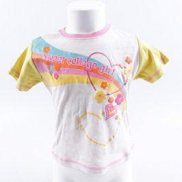 Dívčí tričko Outfit bílé s barevným potiskem