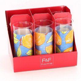 Sada sklenic F&F home s dekorem