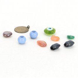 Sada přívěsků mix kamínků korálků a mince
