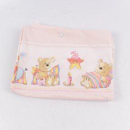 Dětské povlečení Alvi růžové s medvídky