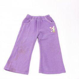 Dětské tepláky fialové barvy