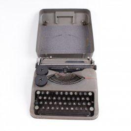 Mechanický psací stroj Hermes baby šedý