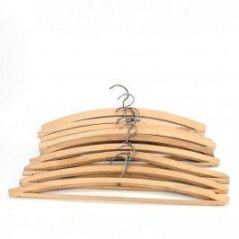 Ramínka na šaty ze světlého dřeva