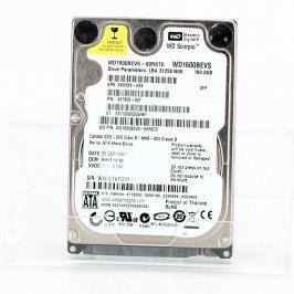 Pevný disk WD WD1600BEVS 160 GB SATA 2,5''