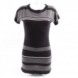 Dámské úpletové šaty Yessica černo šedé