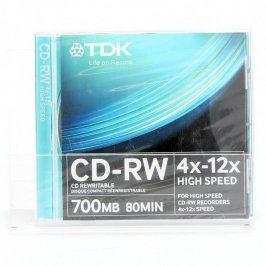 Přepisovatelné CD-RW TDK - 2 kusy