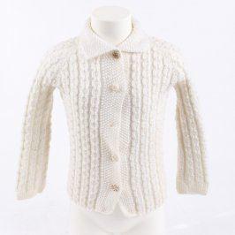 Dětský svetr bílý na knoflíky