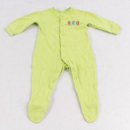 Dětské dupačky Tesco odstín zelené