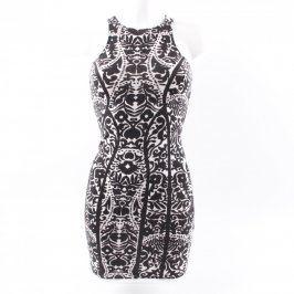 Dámské mini šaty H&M bílo černé vzorované