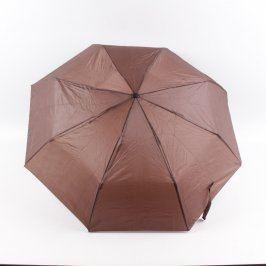 Deštník skládací hnědý ø 100cm