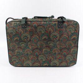 Cestovní kufr textilní s dekorem listů
