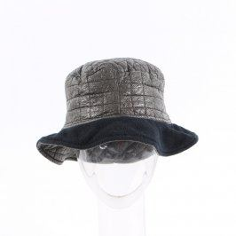 Dámský klobouk stříbrno-černý hluboký