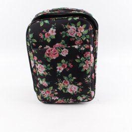 Cestovní kufr s obrázky růží