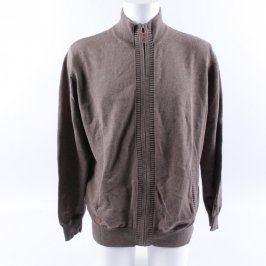 Pánský svetr Debenhams odstín hnědé na zip