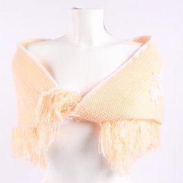 Dětský šátek pletený odstín oranžové