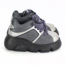 Dětské boty Ellesse černo stříbrné