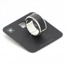 Prsten Six 454-288 s černým pruhem