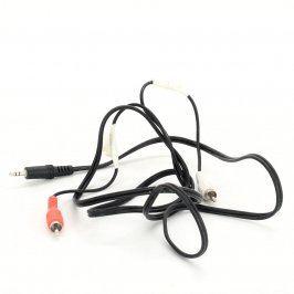Kabel jack 3,5 mm / 2x Cinch M černý 150 cm