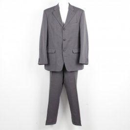 Pánský oblek C&A Canda tmavě šedý