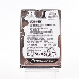 Pevný disk WD WD5000BEKT SATAII 500 GB 2,5''