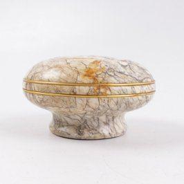 Miska z mramoru se zlatým zdobením