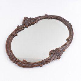 Zrcadlo oválné v ozdobném rámu