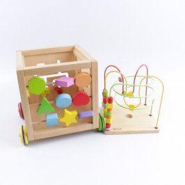 Dřevěná didaktická hračka kostka
