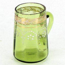 Skleničky ze zeleného skla s uchem