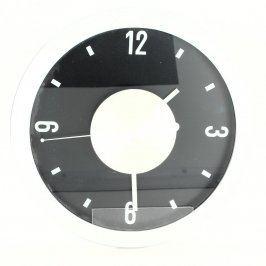 Nástěnné hodiny 26 x 26 cm černobílé