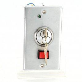 Zámek s elektrickým spínačem a kontrolkou