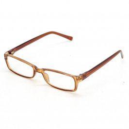 Dioptrické hranaté brýle odstín hnědé