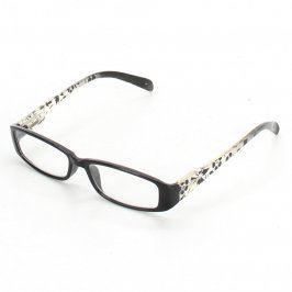 Dioptrické brýle černobílé s kytičkami