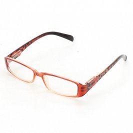Dioptrické brýle černočervené s ornamenty