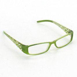Dámské dioptrické brýle světle zelené
