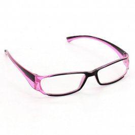 Dioptrické brýle černorůžové