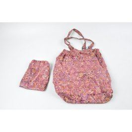 Nákupní taška s pevným dnem růžová