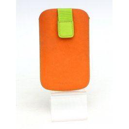 Pouzdro na mobil Aligator oranžovo zelené