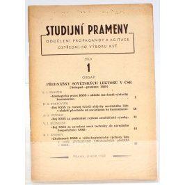 Brožura Studijní prameny