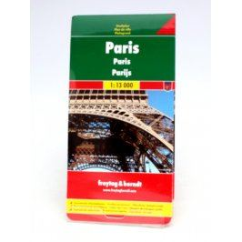Turistická mapa města Paříž