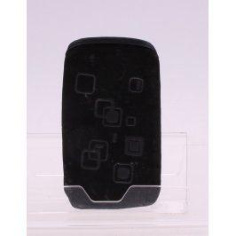 Obal na mobil černý se čtvercovými vzory
