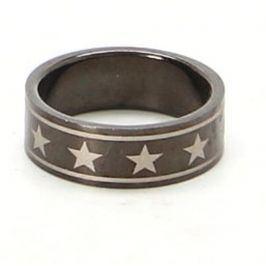 Ocelový prsten s hvězdou 21 mm