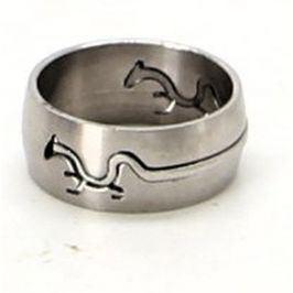 Ocelový prsten ještěrka 17,5 mm