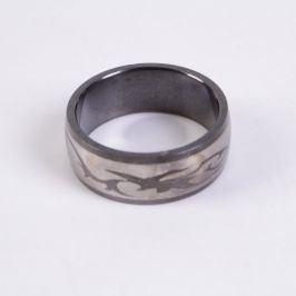 Ocelový prsten tmavý 20 mm